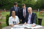 Discussing plans for Willenhall Station with Transport Minister Chris Grayling MP